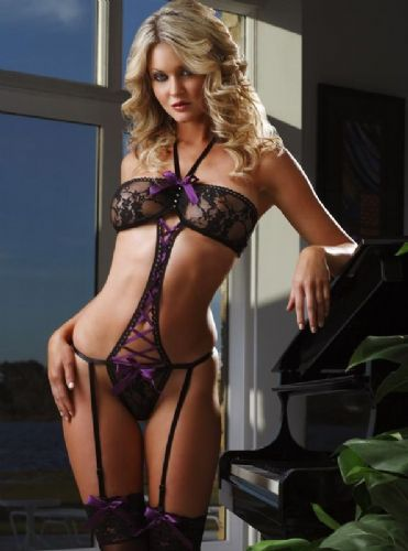Thong Teddy - Purple Ribbon (Teddy4)
